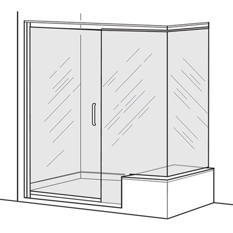 Standard Frameless Shower Door Sizes American Standard Am00392d 400 213 Clear Glass Frameless Pivot Shower Door With In Line