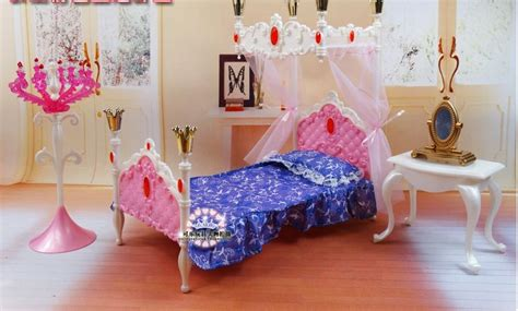 barbie decor collection bedroom playset desk chair bed dreamlike doll bed dresser set dollhouse bedroom