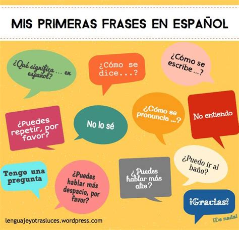Or En Espanol Learn Aprende Espa 241 Ol Vocabulario Mis Primeras Frases