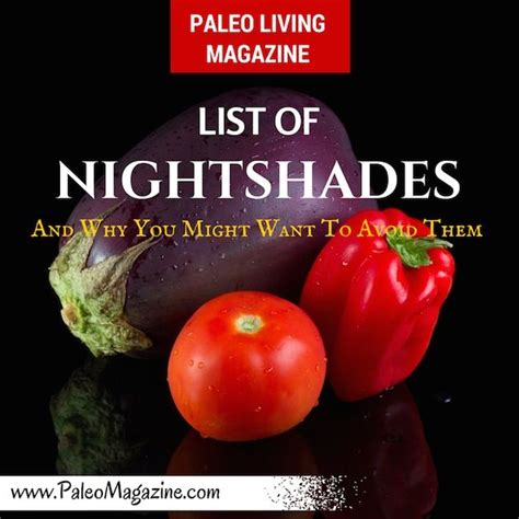Do You About Black Foods 2 by List Of Nightshades Foods And Why You Might Want To Avoid