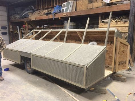 enclosed duck boat blind 6 man trailer blind iawaterfowlers duck hunting