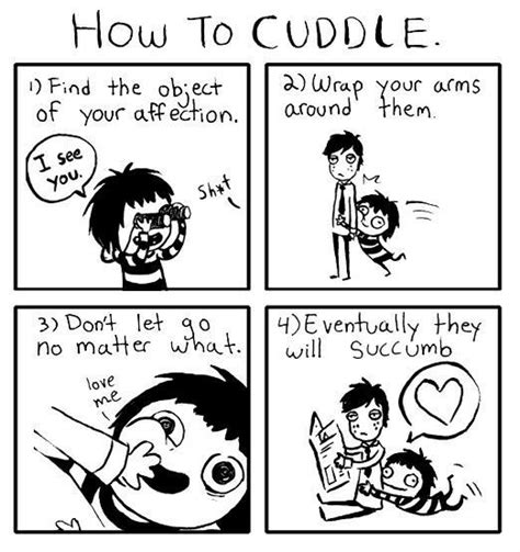 How To Cuddle On A by How To Cuddle Comic Weknowmemes