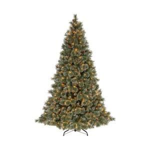 martha stewart living 9 ft sparkling pine artificial