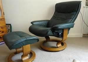 ekornes stressless recliner chair and footstool