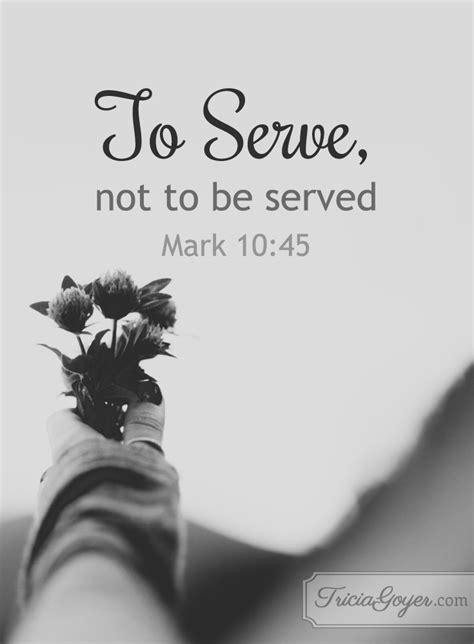 Serve | Mark 10:42-45 - Tricia Goyer