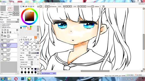paint tool sai tutorial mewarnai tutorial paint tool sai cara mewarnai kulit anime cuma