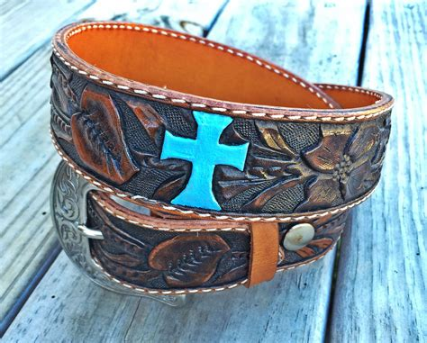 Handcrafted Western Belts - buy a made custom western floral belt carved in