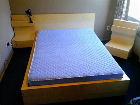 ikea king malm bed frame with attached nightstands ikea malm attached nightstand nazarm