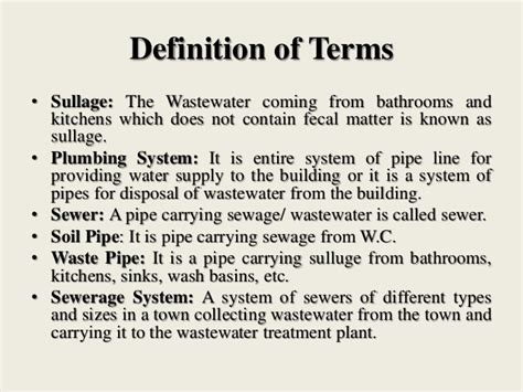 definition of sectioned house drainage system
