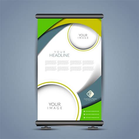 moderne poster modern poster stand template vector free