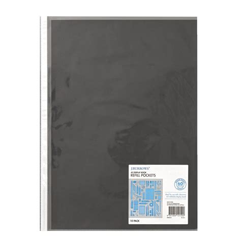 Bantex Trendy Display Book A4 20 Pockets Black 3133 10 a3 landscape folder officeworks beatiful landscape