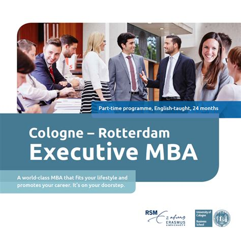 Why Do An Executive Mba by Why The Cologne Rotterdam Emba Cologne Rotterdam