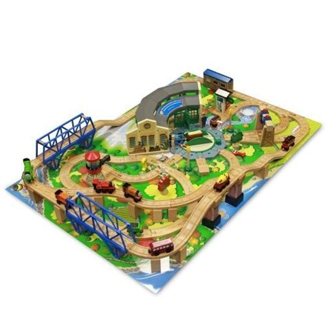 And Friends Tidmouth Sheds Deluxe Set by Friends Wooden Railway Tidmouth Sheds Deluxe Set With Island Adventure