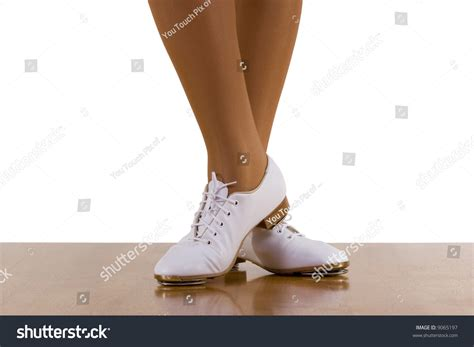 clogging shoes for taptopclog dancer clogging shoes on white stock photo