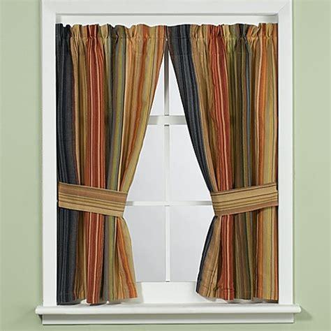 retro window curtains retro chic bath window curtain with tiebacks bed bath