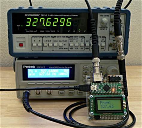 libreria elettronica misure di frequenza con arduino e libreria freqmeasure