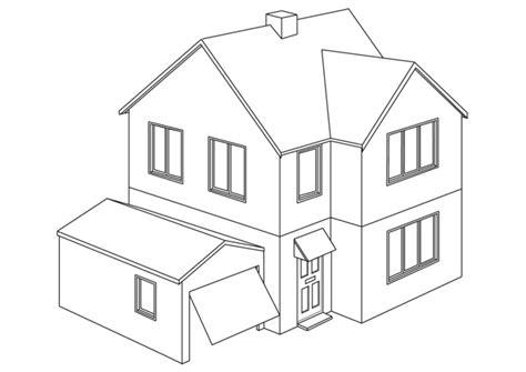 casa da colorare disegno da colorare casa cat 9454