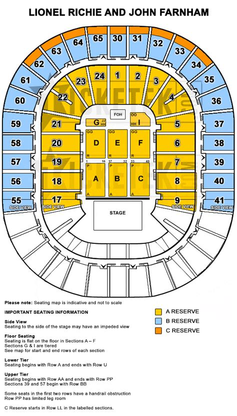 entertainment centre floor plan one stage two music legends lionel richie john farnham