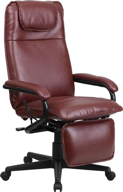 ebay reclining chairs high back burgundy leather executive reclining office