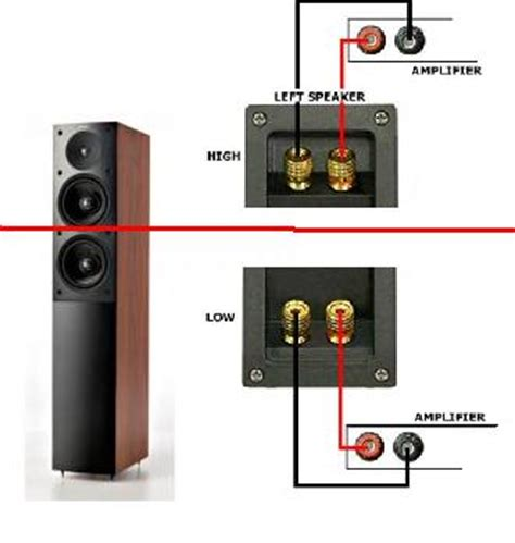 how to bi wire speakers diagram bi speaker connection