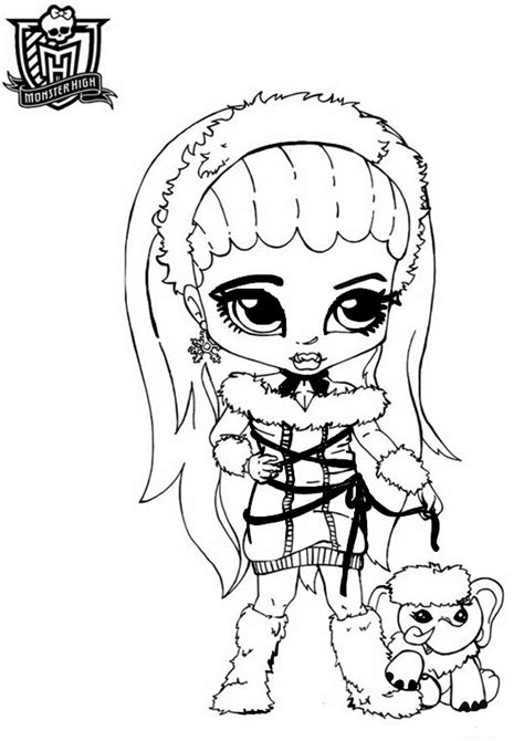 Monster High Abbey Coloring Pages Getcoloringpages Com High Coloring Pages Baby