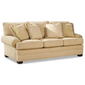 low height sofa huntington house 2061 upholstered sofa with low profile rolled arms wayside furniture sofas
