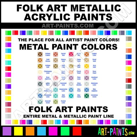 folk metallic acrylic metal paint colors metallic paint colors folk metallic acrylic