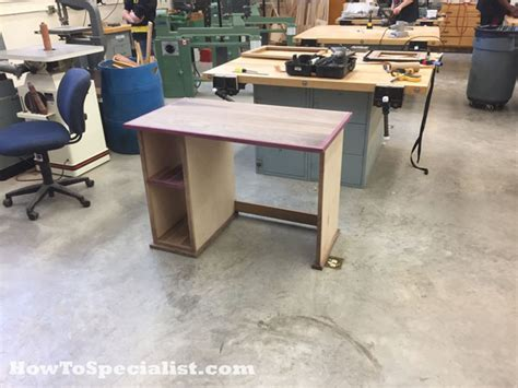 diy computer desk plans diy desk howtospecialist how to build step by step