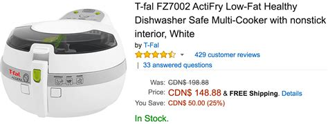 Patio Armor Canada Canada Deals Save 25 On T Fal Actifry Low 51