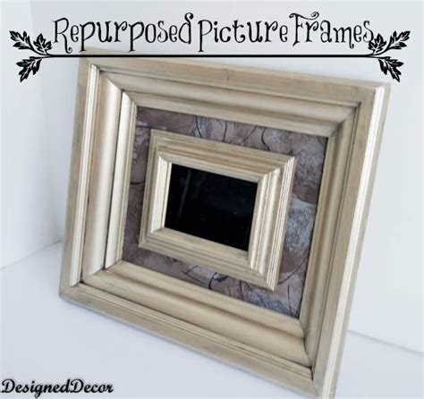 repurposed picture frames  modern masters paint