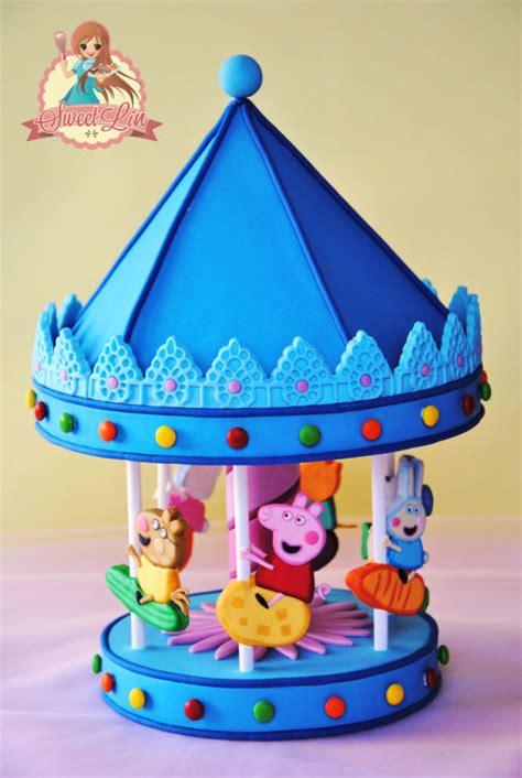 Grosiran Peppa Pig Peppa Pig Carrousel peppa pig s carousel cake topper cake by sweetlin