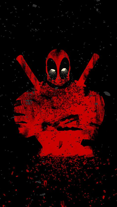 Samsung E5 Deadpool Marvel 1080x1920 wallpaper deadpool shattered