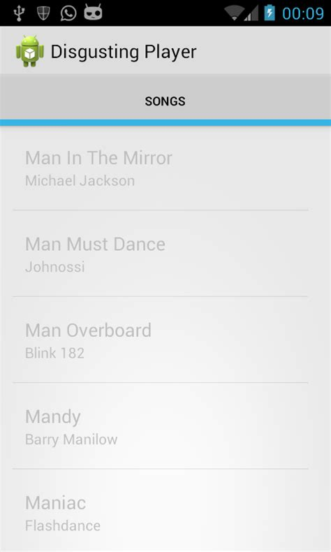 android listview theme android text color holo light