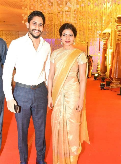 Naga Chaitanya and Samantha spotted together in a wedding