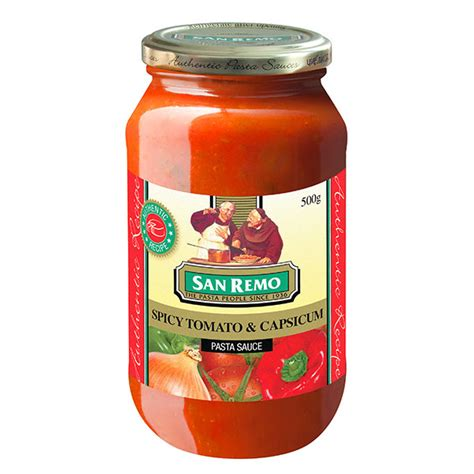 Shelf Of Tomato Sauce by Pasta Sauce Spicy Tomato And Capsicum San Remo