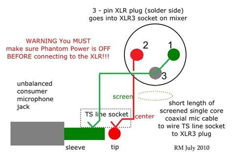 how to wire an unbalanced microphone to a balanced xlr