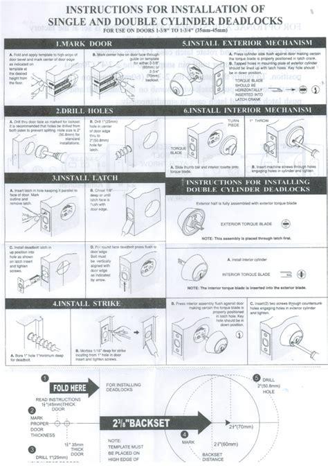 Door Backset Template Download Specifications Sc 1 St Ahi Hardware Deadbolt Installation Template