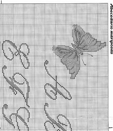 lettere corsive punto croce sler punto croce con lettere corsive e farfalle 4