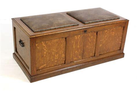 trunk storage ottoman antique oak upholstered ottoman chest trunk storage box