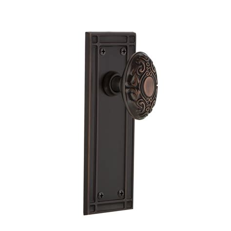 Push Pull Turn Door Knob by Brinks Home Security Stafford Tuscan Bronze Turn Lock