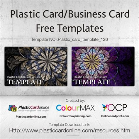plastic card template word free ready made plastic card template