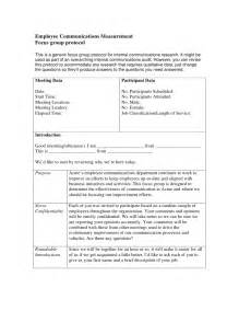 Focus Group Discussion Report Sample Employee Communications Focus Group Protocol