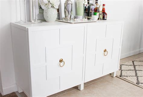 diy ikea hack besta cabinet two ways glam latte - Besta Sideboard Hack