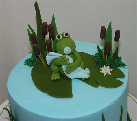 Frog Baby Shower by Frog Baby Shower Cake Frog Baby Shower