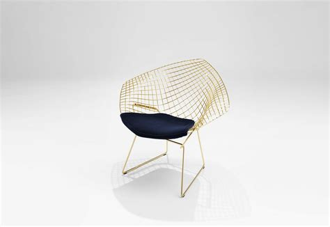 Bertoia Lounge Chair by Bertoia Lounge Chair Gold Plated By Knoll Stylepark