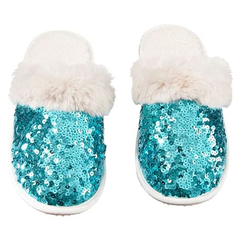 sparkly slippers for sequin slippers pbteen