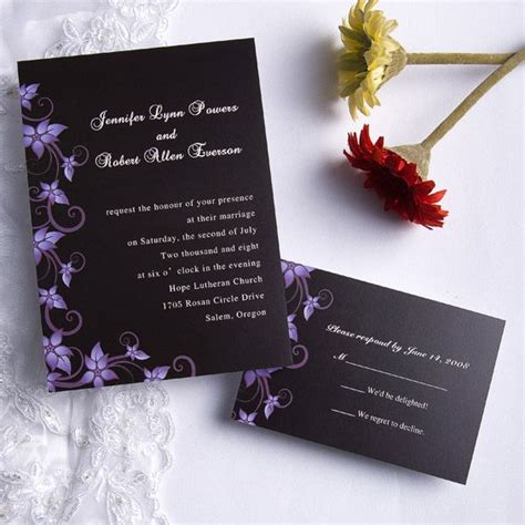 Cheap Purple Wedding Invitations by Wedding Stationery Weekly Floral Wedding Invites