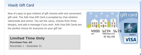 Aaa Gift Cards - aaa members fee free visa gift cards at aaa locations doctor of credit