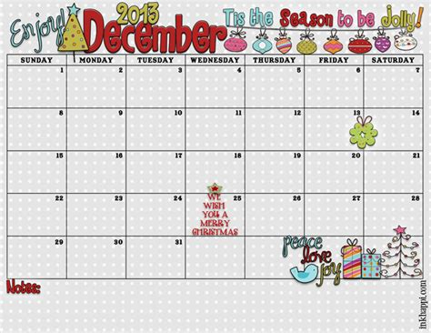 free printable december 2015 calendar cute 6 best images of cute printable december calendar cute