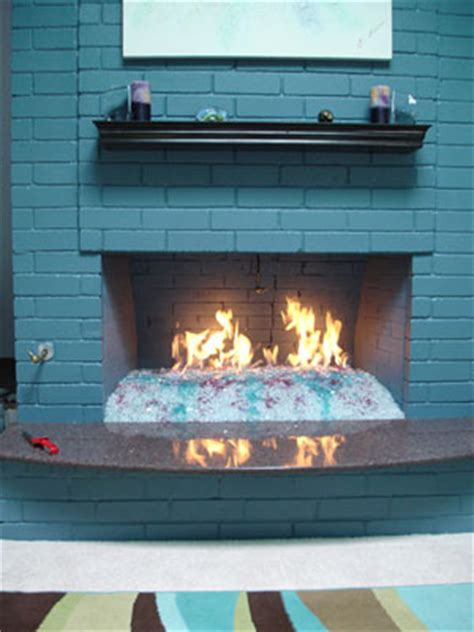 how to install a custom on glass fireplace using